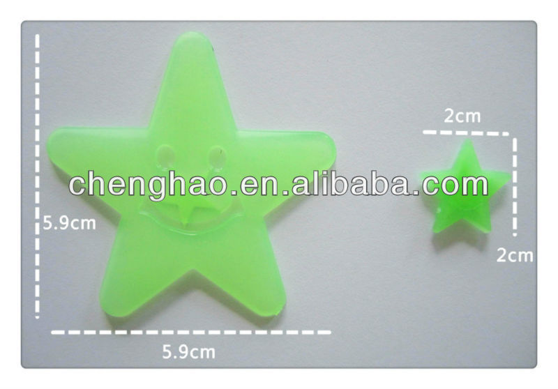 glow in the dark stars and moon for wall decoration stickers