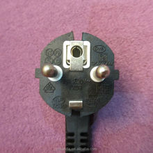 VDE approved 3 pin CEE7 7 european schuko plug