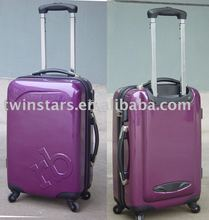 Twinstar purple pc trolley luggage