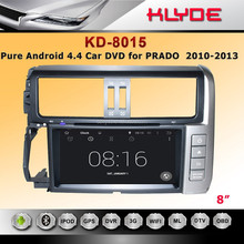 Pure Android 4.4.2 autoradio touch screen 2 din car dvd players gps for prado