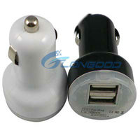 2 USB port car charger for ipad/for iPhone 4G/4S/for iPod
