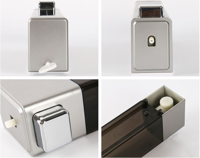 Single simple automatic wall mounted chrome plating soap dispenser