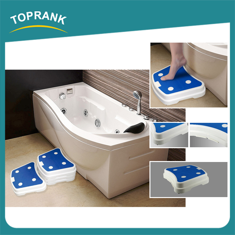 6pcs bathroom safe steps modular non-slip plastic protable bath step