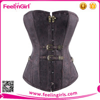 Sexy Women Steampunk Corselet Waist Training Body Shapewear Bustier Tops