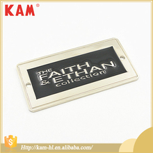 Fashion Custom Logo Rectangle Nickel Metal Label For Clothing And Bag