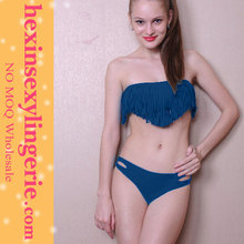 wholesale woman colorful blue sexy fringe bikini 2012