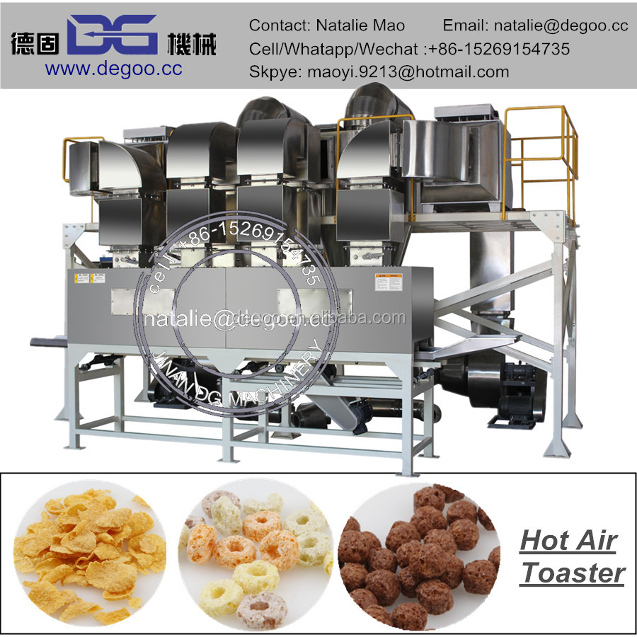 Nestle breakfast cereal snack corn flakes production line