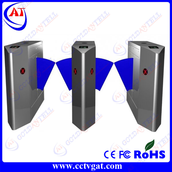 Subway pedestrian flap turnstile/door entry system flap barrier gate GAT-201