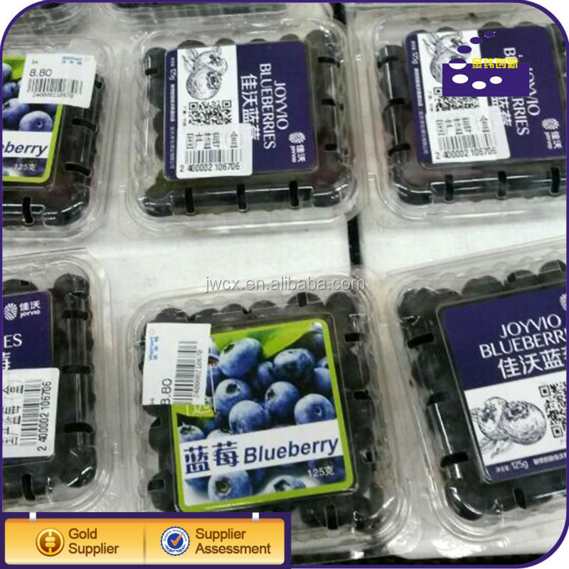 Plastic transparent Buleberry packing tray
