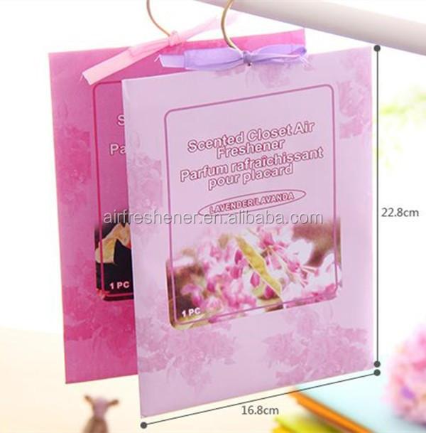 Long Lifetime Vermiculite Air Freshener Sachet/Paper fragrance sachet