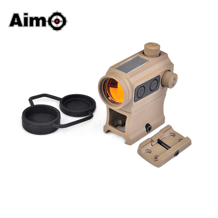 Aim-O Tactical scopes Solar Power Red Dot With Riser Mount & Low Mount riflescopes hunting shooting