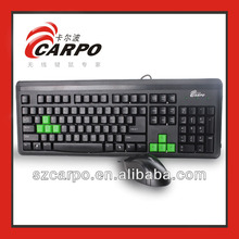 Luxury Black mouse and MSR POS keyboard for Christmas gift T800