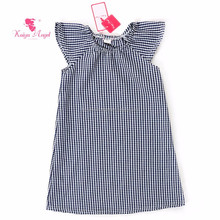 navy checked girl dress toddler baby cotton frocks designs