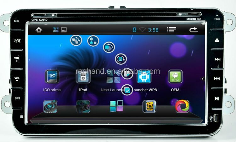 "8"" Android Car Dvd Stereo for VW Passat/Golf/Seat/Bora/polo with Gps Navi,3G,Wifi,Bluetooth,Ipod Support Rear View Camera,DVR"