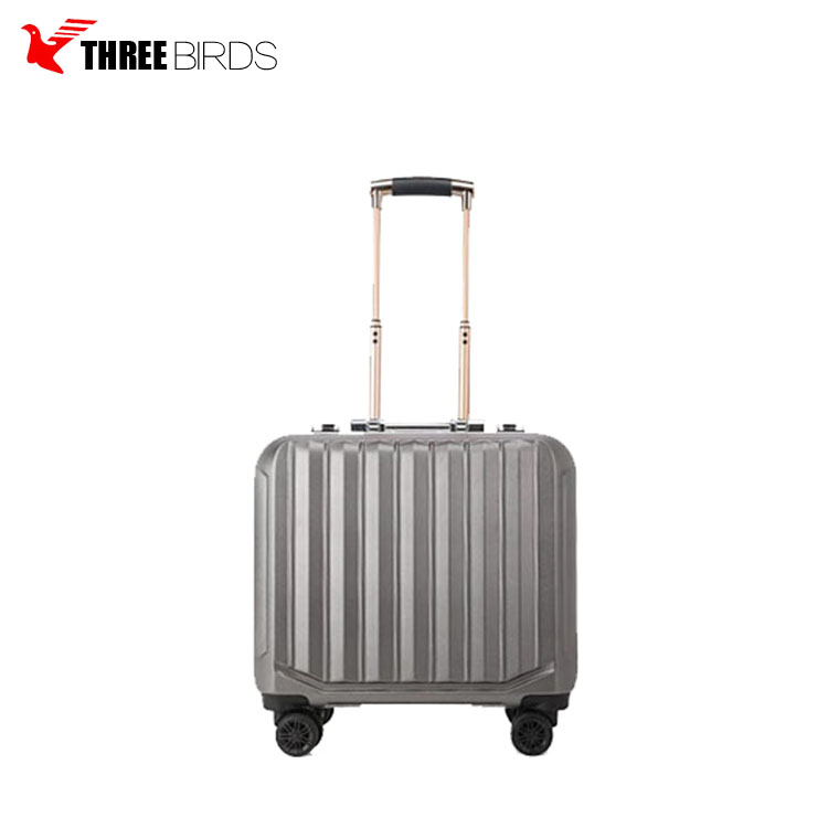 Alibaba China supplier 100% PC ABS decent aluminium suitcase sky airport pilot 4 rolling universal wheels luggage trolley bags