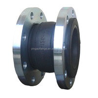stainless steel single sphere rubber bellows pipe expansion joint
