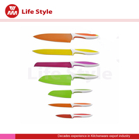 7pcs non-stick color coating kitchen knife set