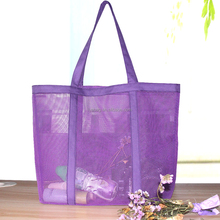 <strong>Fashion</strong> large transparent tote mesh beach bag for women