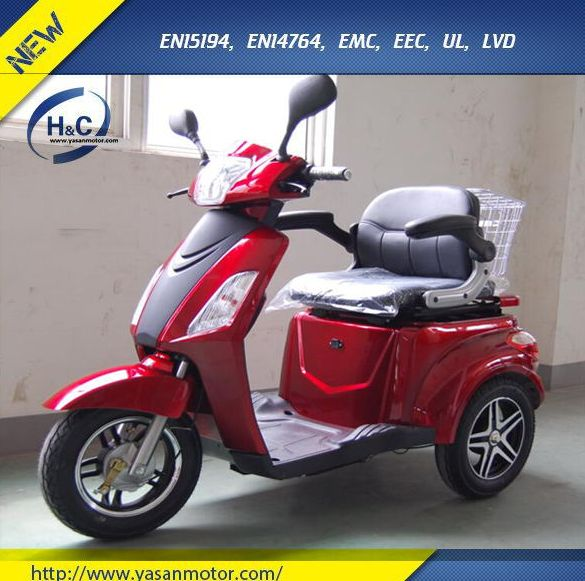 Cheap adults 60V 1000W electric tricycle for disabled with Lead Acid Battery