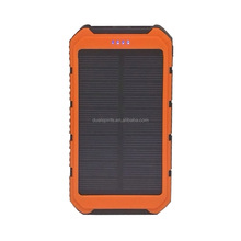 Solar mobile power 8000mah with flashlight solar charger rechargeable mobile phone charger