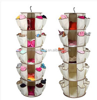 5 Tiers 360 Degree Spinning Hanging Smart Carousel Shoe Organizer