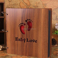 12 Inch New High-grade Wooden 2014 Sculpture Print Children Diy Photo Album Scrapbooking Homemade Gift Handmade Baby Album Photo