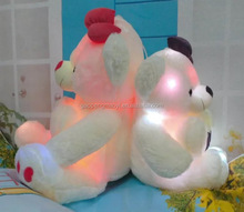 wholesale romantic animal plush toys teddy bear with led light up change color