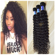 Hot sale strong double weft full cuticle kinky curly brazilian remy human hair