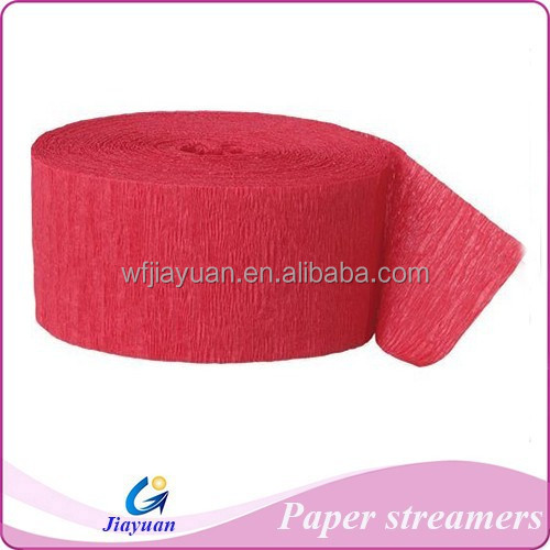 New product christmas decorations crepe paper Streamer