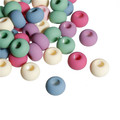 Acrylic Spacer Beads Round At Random Rubberized About 14mm Dia