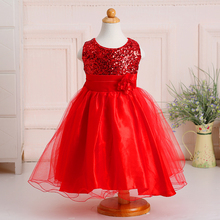 Many Colors Little Ladies Clothes Wedding Bridesmaid Girl Dress L-100