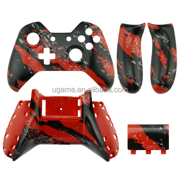 Hydro dipped Red Splatter Shell for Xbox One replacement shell