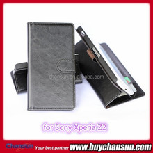 China manufacturer leather cases for Sony Xperia Z2