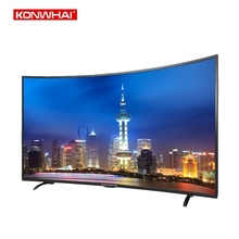KONWHAI 4k smart television LED screen 65 75 Inch full hd curved wifi tv Android