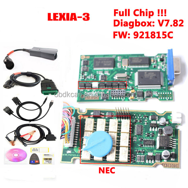 New! Lexia 3 PP2000 Diagbox 7.83 Full Chip 921815C Lexia3 for Citroen for Peugeot Diagnostic Tool Lexia-3