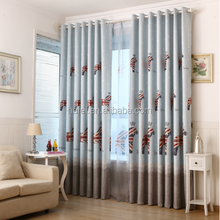 printing 100% polyester blackout curtain fabric with horse star for children room