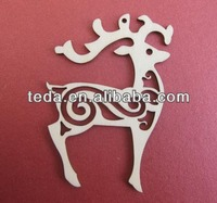 deer plywood funny christmas craft