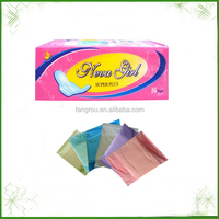 2014 hot sale breathable ultra thin whisper sanitary pads with high absorbency