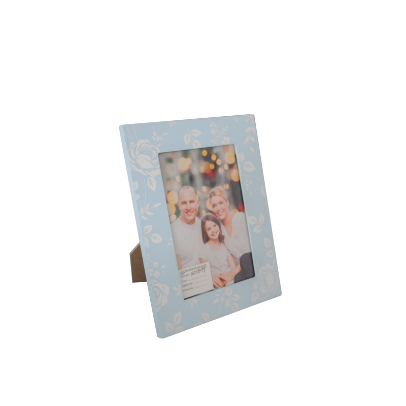 China blue wall decorative 4*6 photo frame cheap wooden wall hanging picture frame