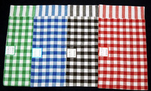 cotton yarn dyed gingham kitchen towels