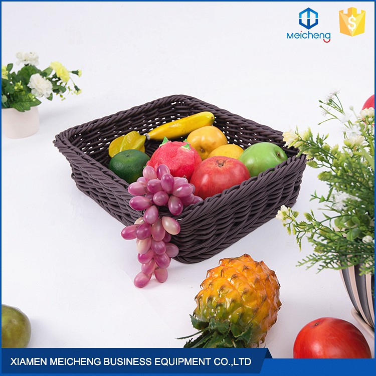 Supermarket display storage natural rattan basket made of rattan