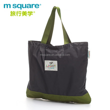 Recycle big nylon folding light supermarket shopping bag with buckle