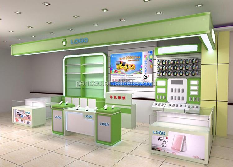 Best design wooden mobile phone accessories kiosk for sale buy mobile kiosk mobile accessories - Mobile shop interior design ideas ...
