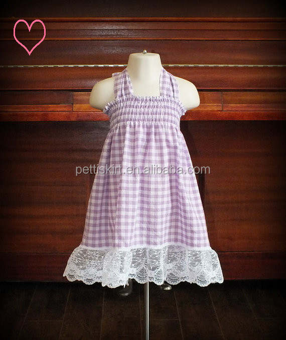 Indian baby frocks girls dress designs baby Sling Plaid Dress