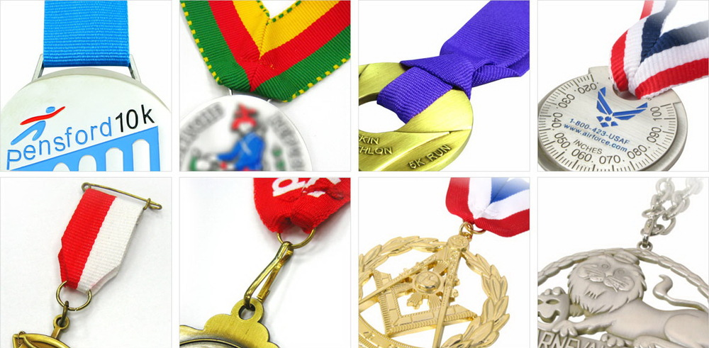Gold Plated Metal Marathon Sports Running Medal