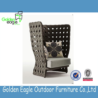 patio furniture high back wicker rattan chairs/round wicker lounge chair/modern relaxing chair