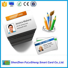 Blank white PVC inkjet ID cards for Epson & Canon double-sided printable