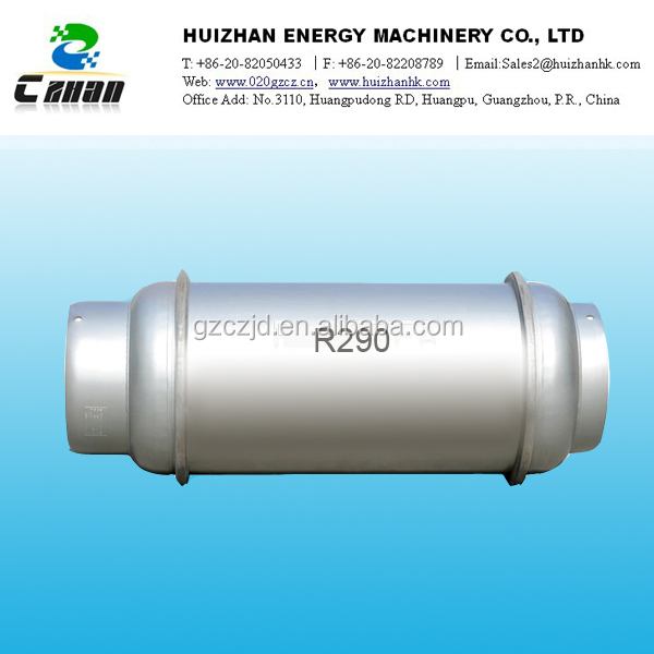 high quality propane r290 refrigerant gas cylinder price