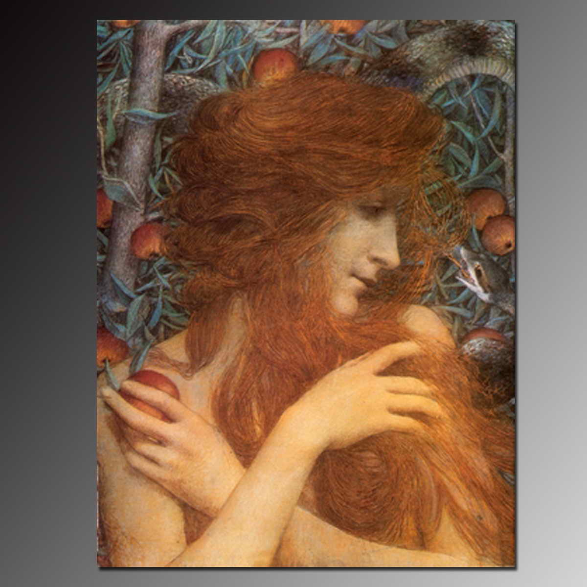 Pretty high quality pure hand-painted oil painting nude woman painting a beautiful angel