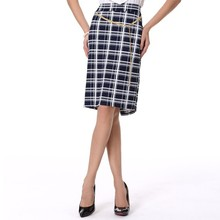 Black and white striped skirt Women plaid skirt Red black plaid skirt